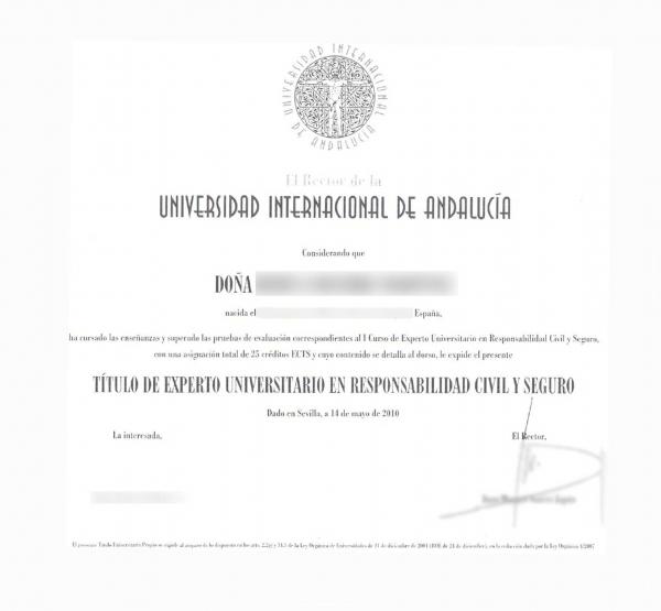 Spanish postgraduate certificate