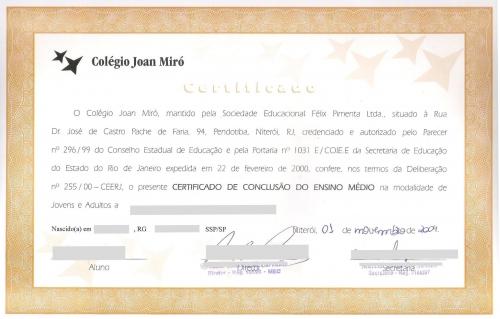 Certificado escolar
